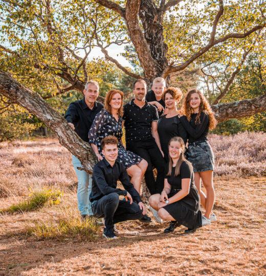 Anke, Jeroen, Frank, Mylene, Nina, Tijn, Robin en Amy – Familieshoot